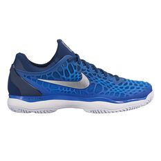 Nike Zoom Cage 3 Mens Tennis Shoes Navy / Silver US 7, Navy / Silver, rebel_hi-res