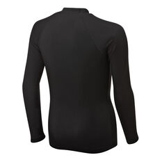 Quiksilver Boys Heater Long Sleeve Rash Vest Black XS, Black, rebel_hi-res