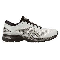 Asics GEL Kayano 25 4E Mens Running Shoes White / Silver US 8, White / Silver, rebel_hi-res
