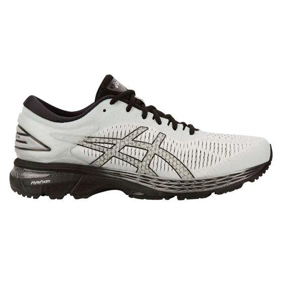 Asics GEL Kayano 25 4E Mens Running Shoes, White / Silver, rebel_hi-res