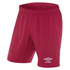 Umbro Mens League Knit Shorts Claret S, Claret, rebel_hi-res