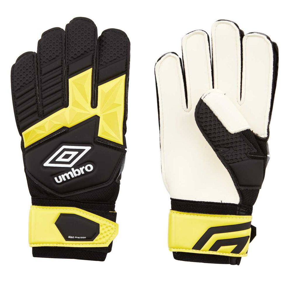 Rebel Sport Inner Gloves: Umbro Neo Precision Kids Soccer Goal Keeping Gloves Black