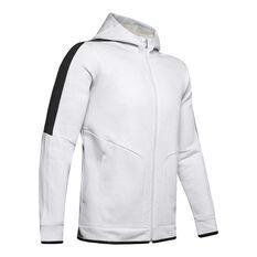 Under Armour Mens Recover Fleece Full Zip Hoodie Grey S, Grey, rebel_hi-res