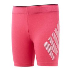 Nike Girls Block Bike Shorts Pink 4, Pink, rebel_hi-res