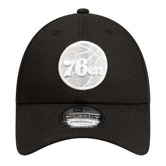 Philadelphia 76ers New Era 9FORTY Black Cloud Cap, , rebel_hi-res
