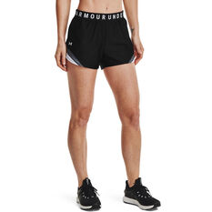 Under Armour Womens Play Up 3.0 Tri Colour Shorts Black XS, Black, rebel_hi-res