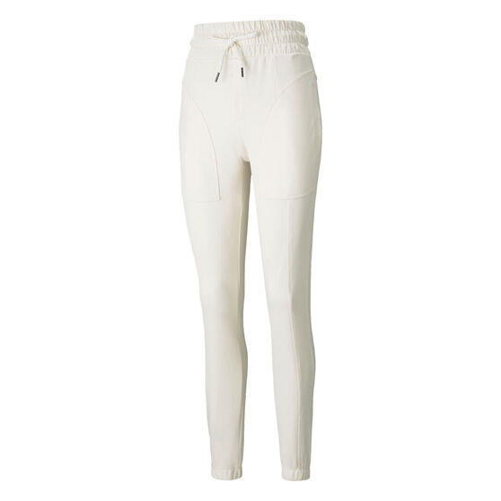 Puma Womens Forever Luxe Pants, White, rebel_hi-res