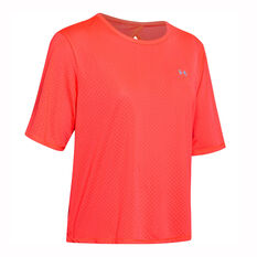Under Armour Womens Armour Sport Tee Red XS, Red, rebel_hi-res