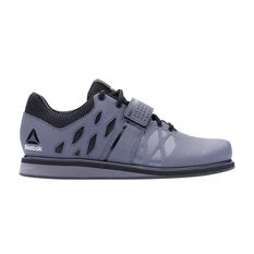 Reebok Lifter PR Mens Training Shoes Grey / Black US 7, Grey / Black, rebel_hi-res