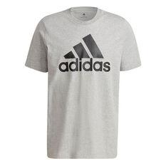 adidas Essentials Mens Big Logo Tee Grey S, Grey, rebel_hi-res