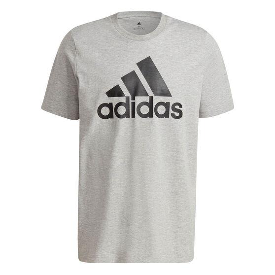 adidas Essentials Mens Big Logo Tee, Grey, rebel_hi-res