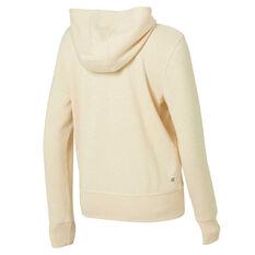 Ell & Voo Womens Harper Fleece Full Zip Hoodie Pearl XS, Pearl, rebel_hi-res