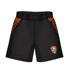 Brisbane Roar Mens Supporter Training Shorts Black S, Black, rebel_hi-res