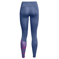 Under Armour Womens Fly Fast 2.0 Print Tights Blue XS, Blue, rebel_hi-res