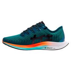 Nike Zoom Pegasus Turbo 2 Hokane Womens Running Shoes, Green / Black, rebel_hi-res