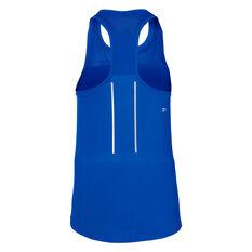 Asics Womens Lite Show Tank Blue M, Blue, rebel_hi-res
