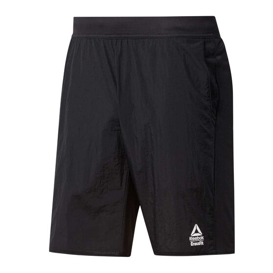 Reebok Mens CrossFit Hybrid Shorts Black M, Black, rebel_hi-res