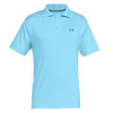 Under Armour Mens Performance Golf Polo Blue / Grey XS, Blue / Grey, rebel_hi-res