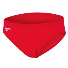 Speedo Boys Endurance Swim Brief Red 10, Red, rebel_hi-res