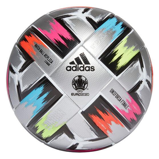 adidas Uniforia Finale League Soccer Ball, Silver/Black, rebel_hi-res