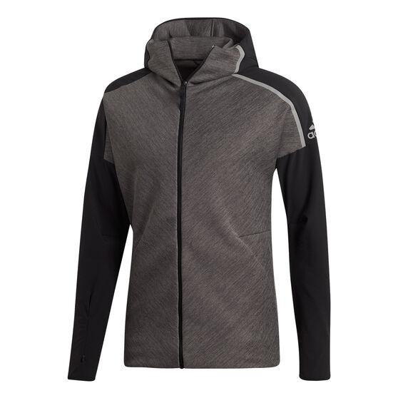 adidas Mens Z.N.E Hybrid Hoodie, Black / Grey, rebel_hi-res