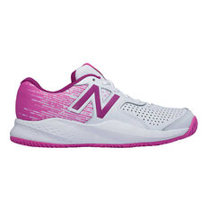 New Balance 696v3 Womens Tennis Shoes White / Pink US 6, White / Pink, rebel_hi-res