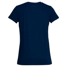 Under Armour Womens Sportstyle Branded Graphic Tee Blue / White XS, Blue / White, rebel_hi-res