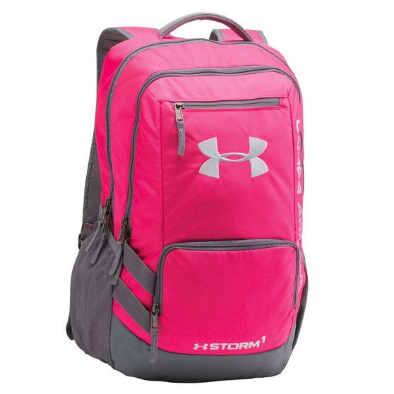 Under Armour Hustle II Backpack Pink, , rebel_hi-res