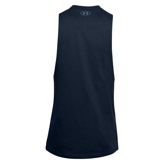 Under Armour Project Rock Sweat Equity Tank Navy M, Navy, rebel_hi-res