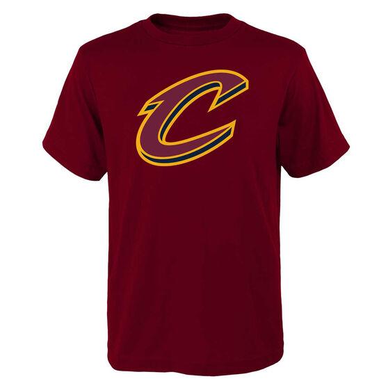 Cleveland Cavaliers Kids Primary Logo Tee, Maroon, rebel_hi-res