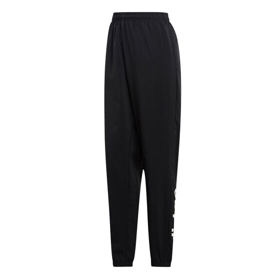 adidas Mens Essentials Linear Tapered Stanford Pants, Black / White, rebel_hi-res