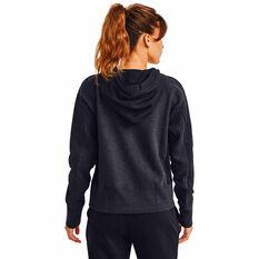 Under Armour Womens UA Rival Fleece Embroidered Full Zip Hoodie, Black, rebel_hi-res
