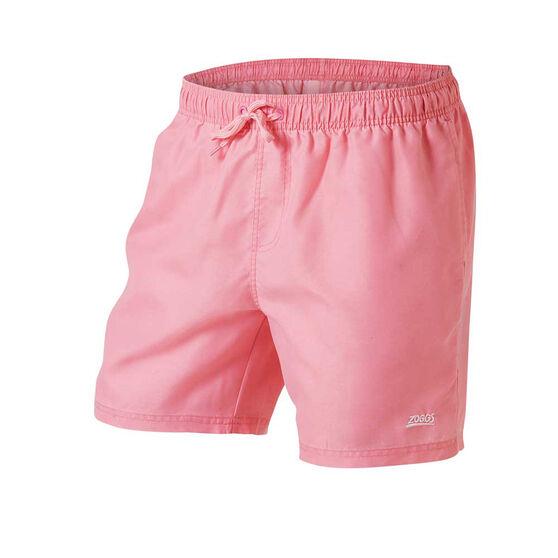 Zoggs Mens Phoenix Board Shorts, Pink, rebel_hi-res