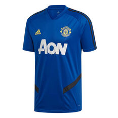 Manchester United 2019/20 Mens Training Jersey Blue XS, Blue, rebel_hi-res