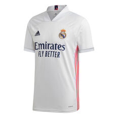 Real Madrid CF 2020/21 Mens Home Jersey White S, White, rebel_hi-res