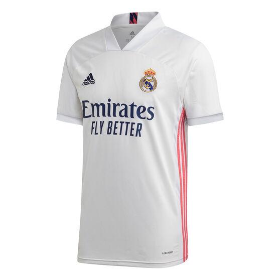 Real Madrid CF 2020/21 Mens Home Jersey, White, rebel_hi-res