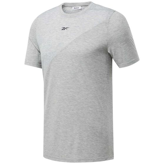 Reebok Mens Workout Ready Supremium Tee, Grey, rebel_hi-res