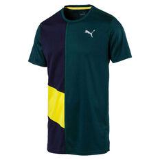 Puma Mens Ignite Tee Green S, Green, rebel_hi-res