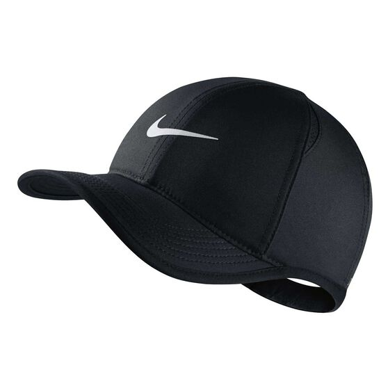 Nike Boys Featherlight Cap Black / White OSFA Black / White OSFA, Black / White, rebel_hi-res