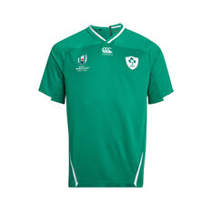 Ireland 2019 Mens Rugby World Cup Home Jersey Green S, Green, rebel_hi-res