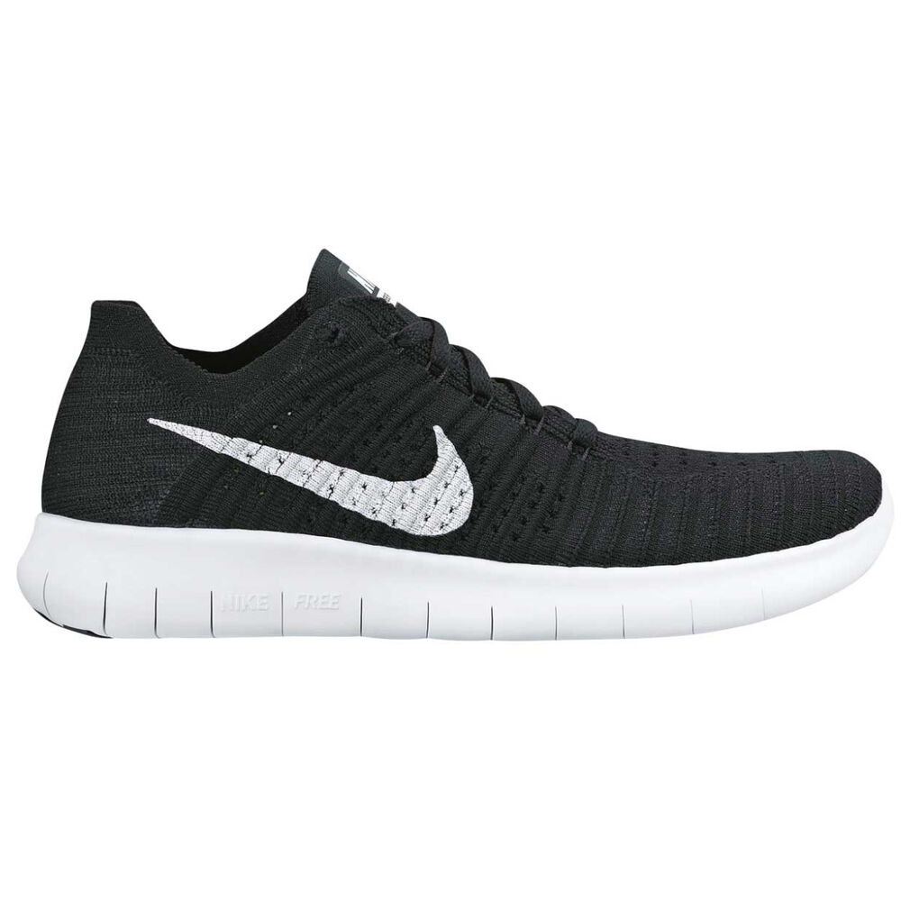 huge selection of cd435 6140a Nike Free Run Flyknit Womens Running Shoes Black   White US 7, Black   White