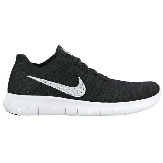 dcaa55df2409 Nike Free Run Flyknit Womens Running Shoes Black   White US 7 ...