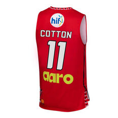 Perth Wildcats 2019/20 Kids Looney Tunes Bryce Cotton Jersey Red 6, Red, rebel_hi-res