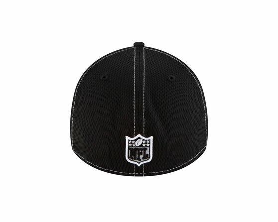 Oakland Raiders New Era 39THIRTY Sideline Road Cap Black, Black, rebel_hi-res