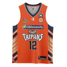Cairns Taipans  Home Kouat Noi 20/21 Kids Home Jersey Orange 4, Orange, rebel_hi-res
