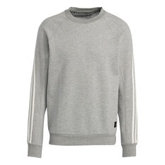 adidas Mens FI Sweatshirt Grey S, Grey, rebel_hi-res