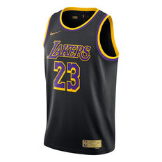 Nike Los Angeles Lakers LeBron James 2020/21 Mens Earned Jersey Black S, Black, rebel_hi-res