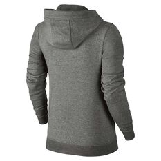 Nike Womens Sportswear Fleece Hoodie Grey / White XS Adult, Grey / White, rebel_hi-res