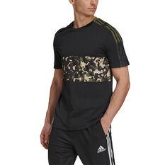 Adidas Mens Tiro Tee Black XS, Black, rebel_hi-res