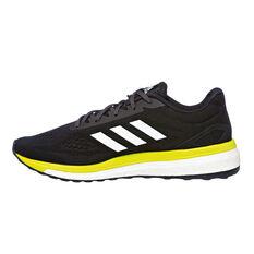 adidas Response LT Mens Running Shoes Black / Yellow US 7, Black / Yellow, rebel_hi-res